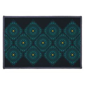malý čierny koberec do predsiene 40 x 60 cm