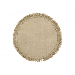 Okrúhle prestieranie na stôl z jutoviny