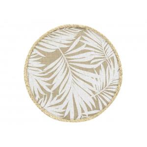 Štýlová okrúhla podložka na stôl z jutoviny