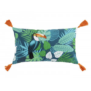 Moderný bavlnený vankúš s exotickým motívom 30 x 50 cm