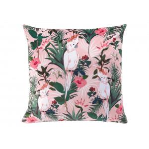 Ružová dekoratívna obliečka na vankúš paradise 40 x 40 cm
