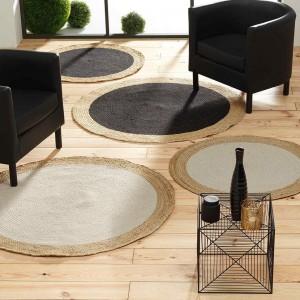 Naturálny jutovinový okrúhly koberec priemer 120 cm