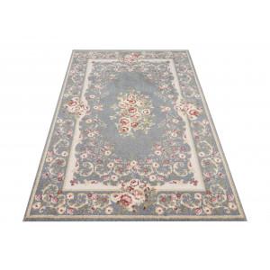 Kvalitný sivý vintage koberec do obývačky