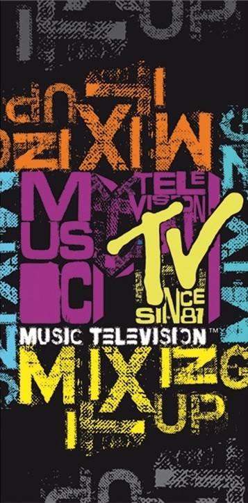 DomTextilu Detský uterák s motívom MTV RDB12 Šírka: 75 cm   Dĺžka: 150 cm 2292-5685