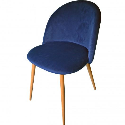 Pohodlné modré kreslo v modernom štýle na opierke prešívané SKLADOM
