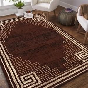 Kvalitný hnedý koberec do obývačky