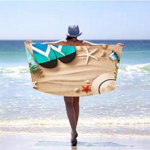 Krásna plážová osuška s motívom leta 100 x 180 cm