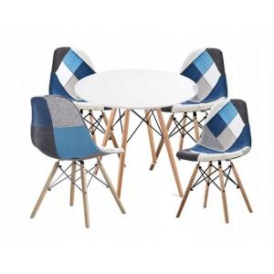 Pohodlná interiérová stolička v štýle patchwork do obývačky SKLADOM