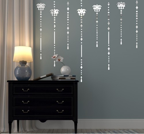 DomTextilu Set dekoračných nalepovacích zrkadiel na stenu 41229