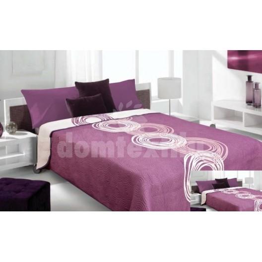 Luxusný obojstranný prehoz na posteľ fialový s bielym vzorom