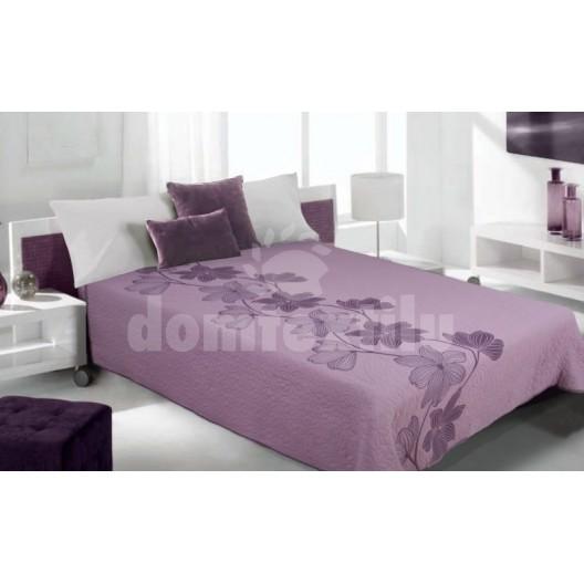 Luxusný obojstranný prehoz na posteľ odtiene fialovej farby