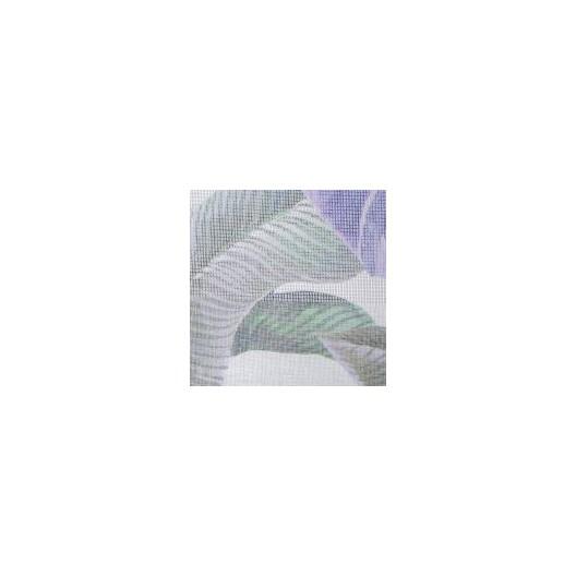 Jednoduchá biela záclona s pásikavým motívom 140 x 250 cm