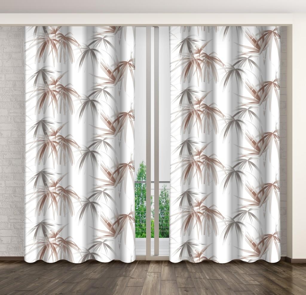 Biele závesy na okná 160 x 250 cm
