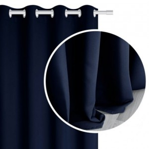 Nepriehľadné závesy v tmavo modrej farbe SKLADOM