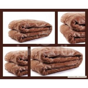 Luxusné deky z akrylu 160 x 210cm hnedá č.19
