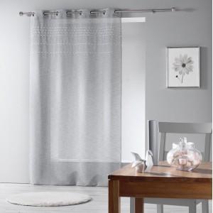 Hotová sivá záclona s prúžkami ANDALIA