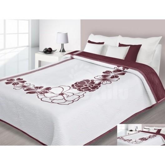 Luxusný obojstranný prehoz na posteľ s motívom a hnedým pozadím