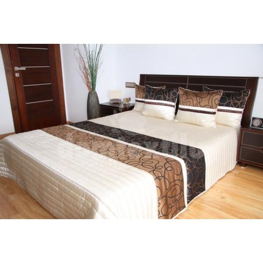 Luxusný prehoz na posteľ béžová s odtieňmi hnedej farby