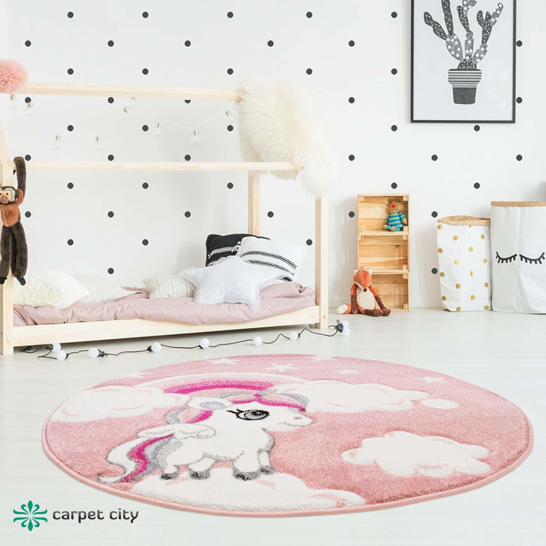 DomTextilu Rozprávkový ružový detský koberec pre dievčatko jednorožec 41709-196981