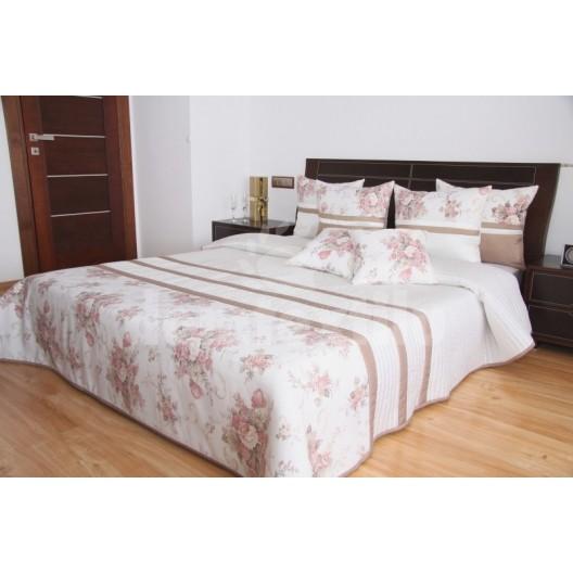 Luxusný prehoz na posteľ béžovo kakaový