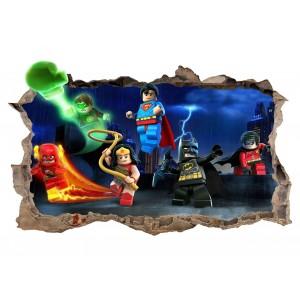 Nálepka na stenu lego Batman 47x77cm