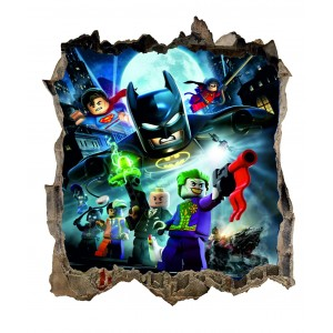 Nálepka na stenu lego Batman HIT 47x54cm
