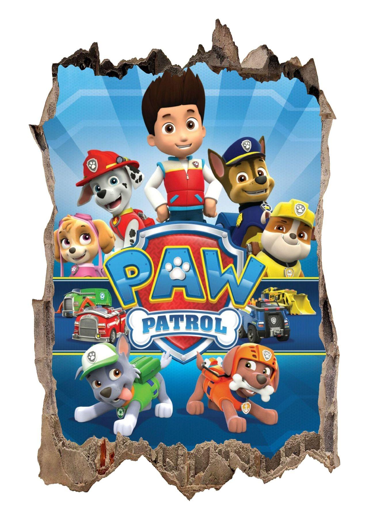DomTextilu DomTextilu Nálepka na stenu Paw Patrol 3D 47x73cm 41791 Modrá