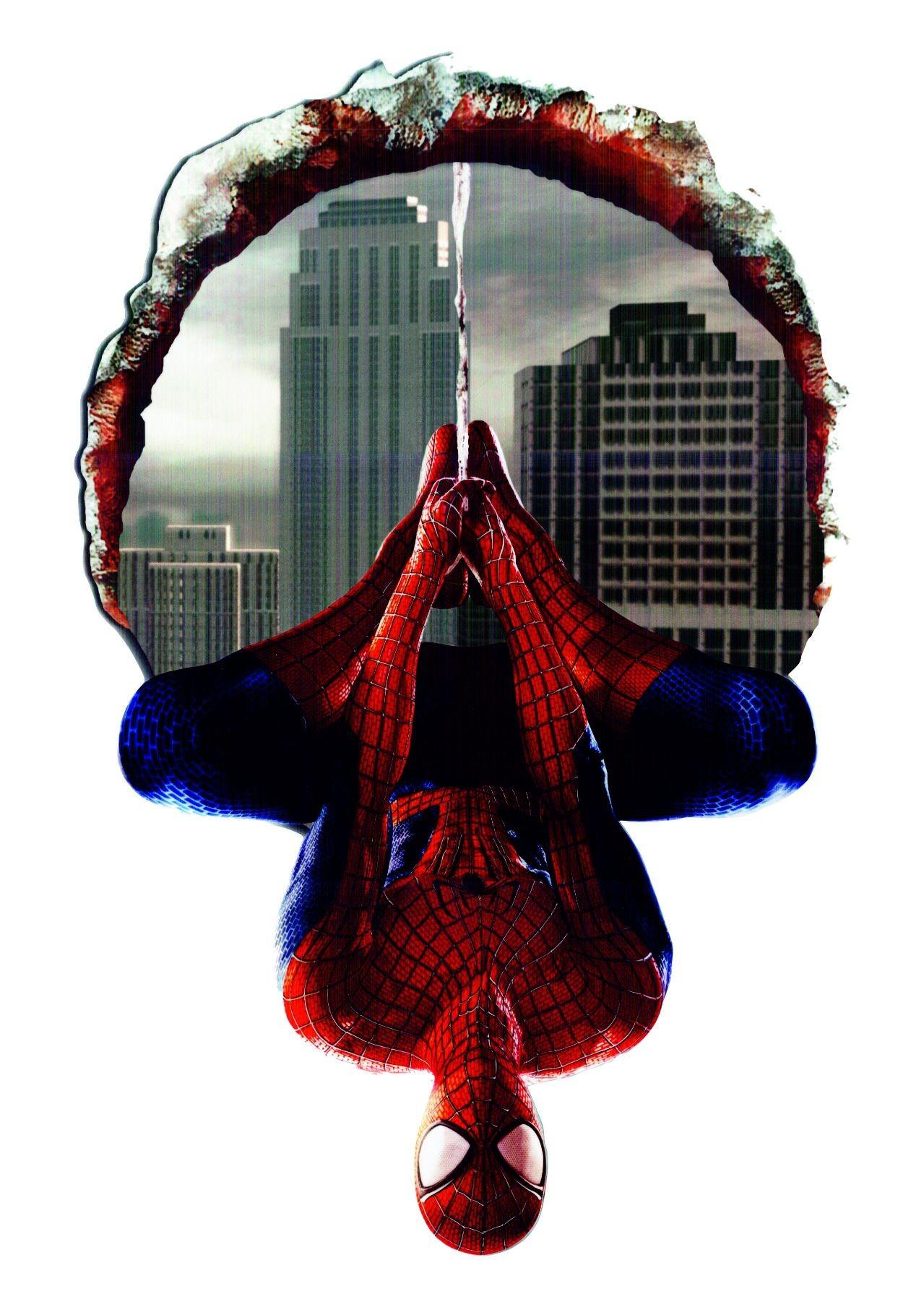 DomTextilu DomTextilu Nálepka na stenu Spiderman 3D 46x70cm 41793 Červená