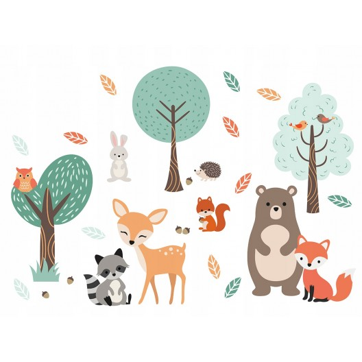 Dekoračné nálepky na stenu so zvieratkami