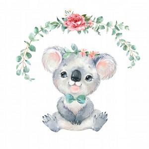 Nálepka na stenu roztomilá koala