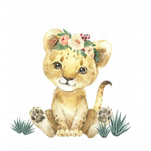 Nálepka na stenu roztomilé levíča