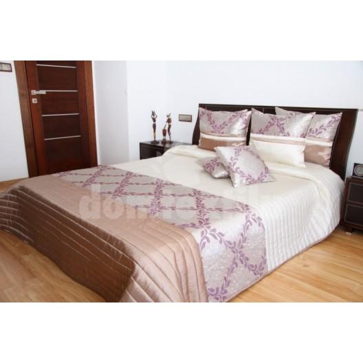 Luxusný prehoz na posteľ bronzovo hnedo béžový
