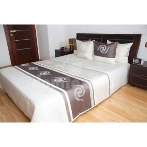 Luxusný prehoz na posteľ béžovo sivý