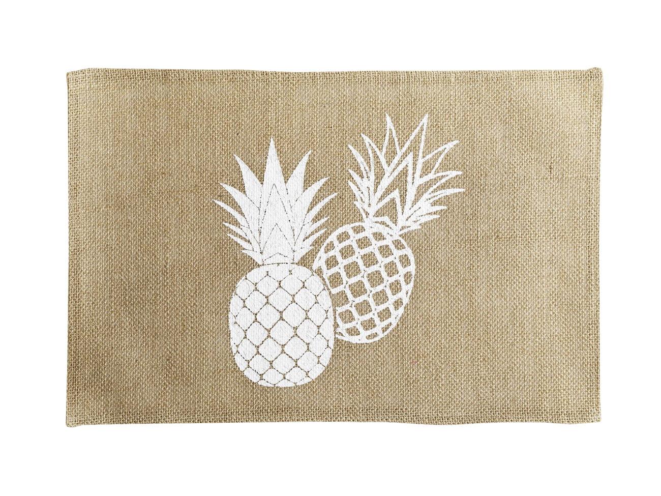 Jutové prestieranie na stôl s motívom ananásov 30 x 45 cm