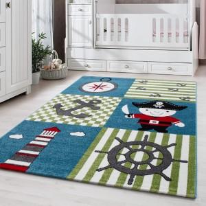 Farebný koberec pre chlapcov do detskej izby pirát