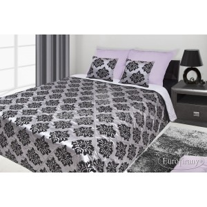 4537768e1c25 Francúzsky prehoz na posteľ sivý s čiernym motívom