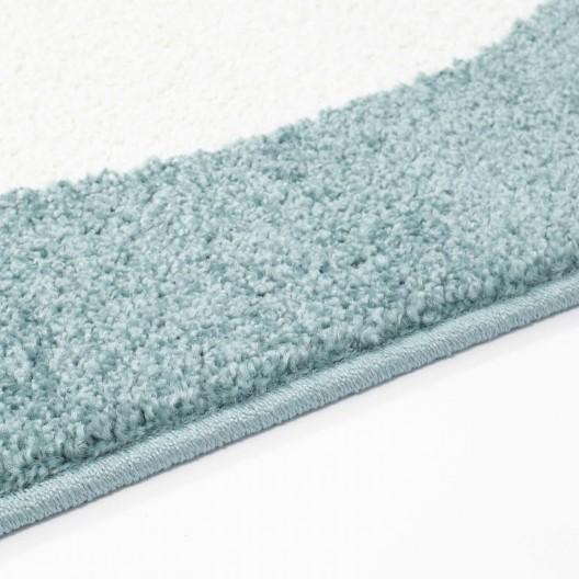 Okúzľujúci modrý koberec do detskej izby spiaci mráčik