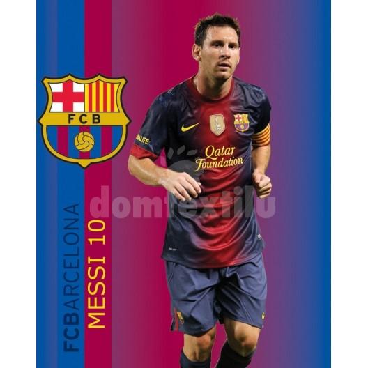 Hrubá detská deka futbalového klubu FC Barcelona