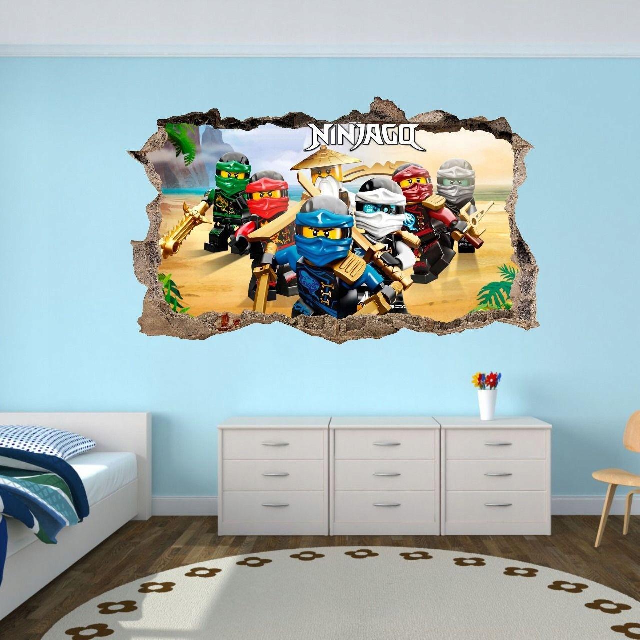 DomTextilu DomTextilu 3D nálepka na stenu NINJA GO 42076-217781