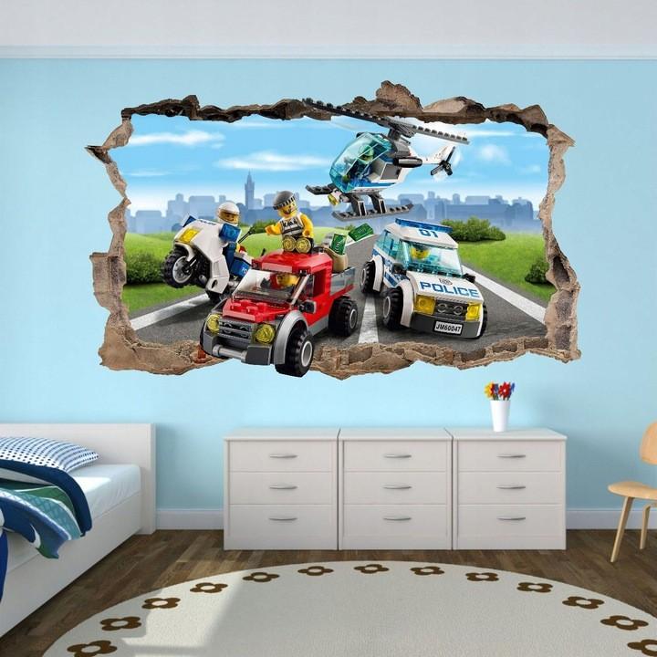Originálna nálepka na stenu s 3D efektom
