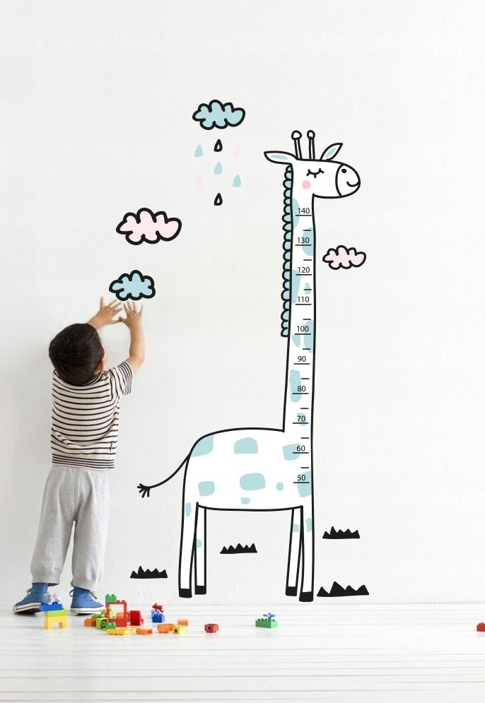 DomTextilu DomTextilu Okúzľujúca nálepka na stenu meter Žirafa 170 x 79 cm 42079 Biela