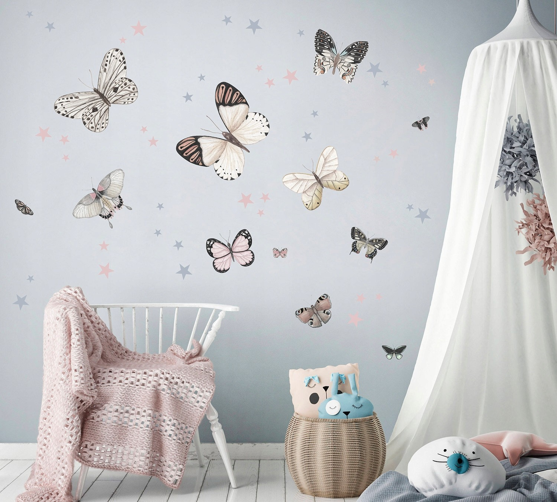 DomTextilu DomTextilu Okúzľujúce nálepky na stenu motýle 42082