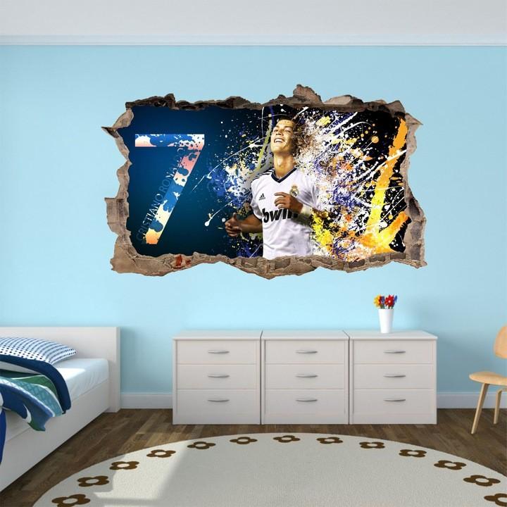 DomTextilu DomTextilu Dekoračná 3D nálepka na stenu Cristiano Ronaldo 47 x 77 cm 42090