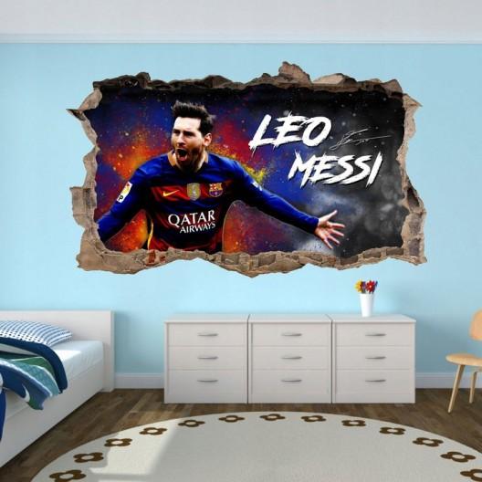Nálepka na stenu 3D Lionel Messi 47 x 77 cm