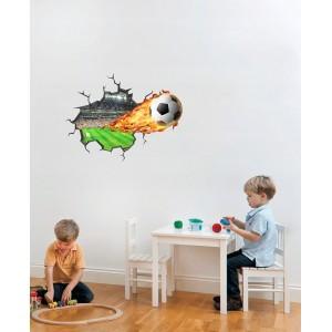 Štýlová nálepka na stenu pre chlapcov futbal 59 x 45 cm
