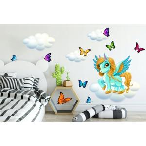 Nálepka na stenu do detskej izby pony 60 x 120 cm