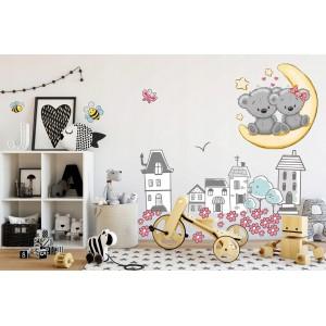Dekoračná nálepka do detskej izby rozprávková krajinka
