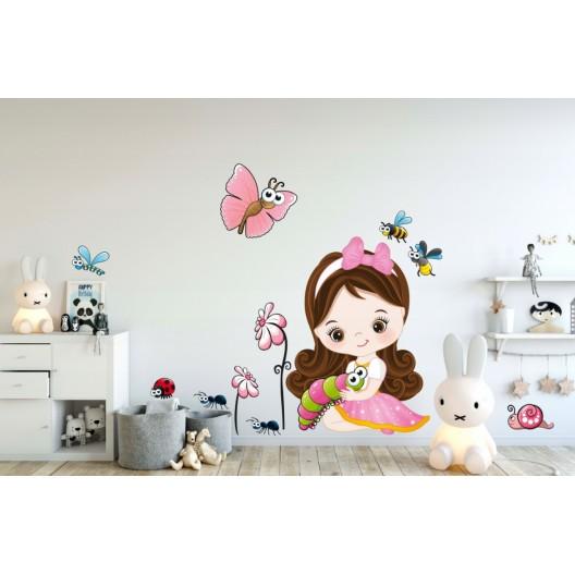 Nálepka do detskej izby pre dievčatko 60 x 120 cm