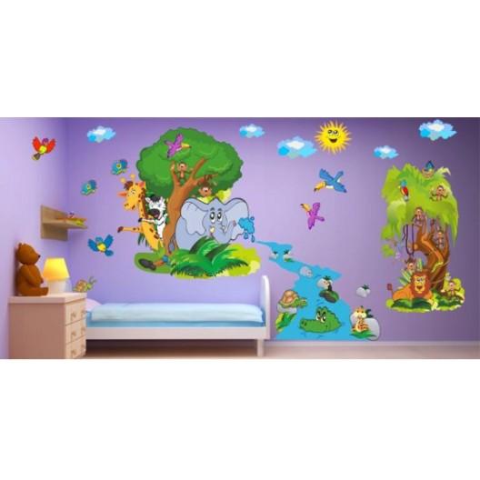 Originálne nálepky na stenu safari 100 x 200 cm