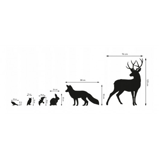 Dekoračné nálepky na stenu lesné zvieratá
